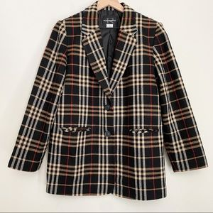 REQUIREMENTS vintage plaid blazer
